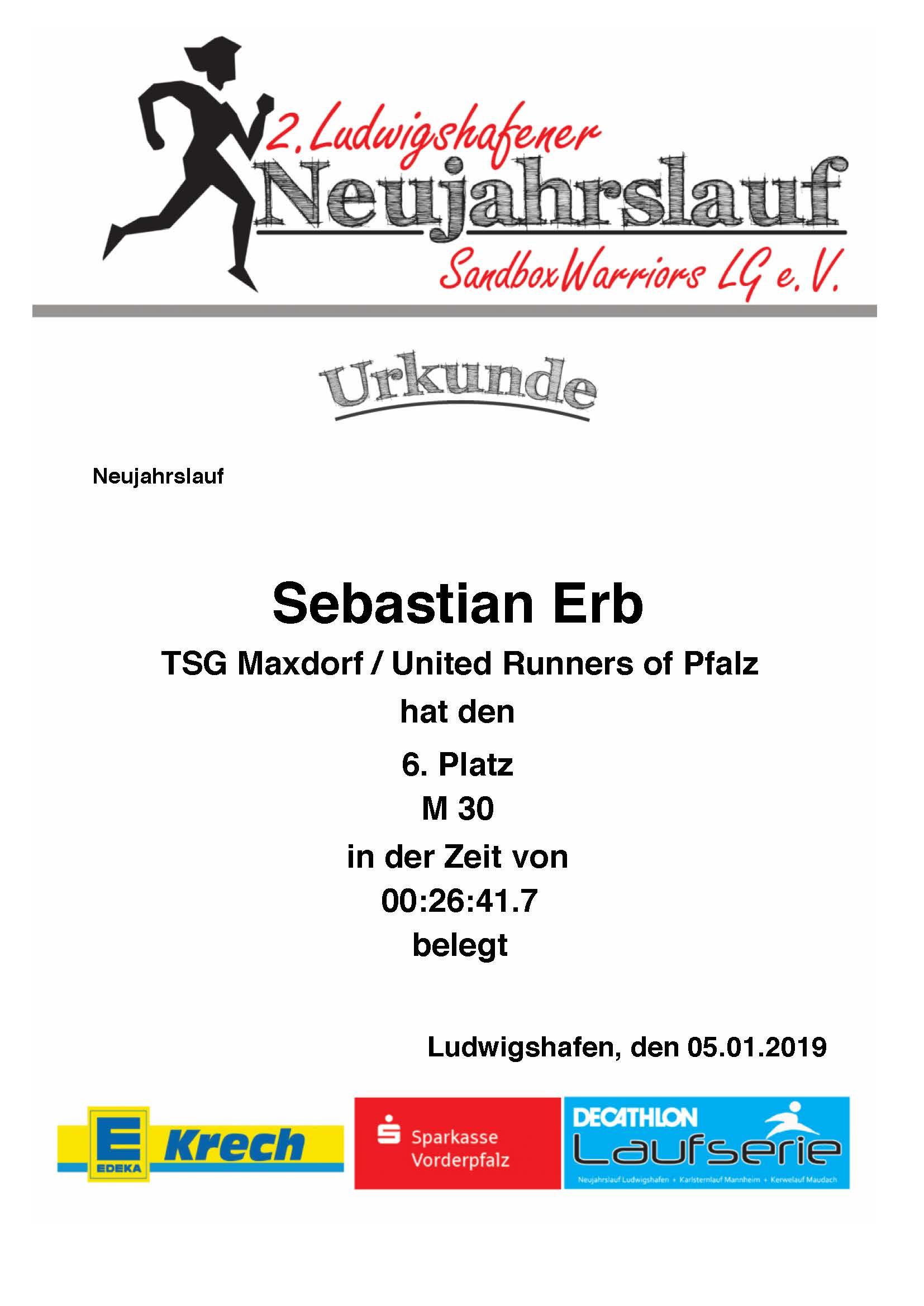 2. Ludwigshafener Neujahrslauf 2019